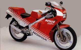 Мотоцикл NSR250R (MC16) (1987): технические характеристики, фото, видео