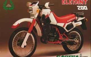 Мотоцикл Elefant 200 (1985): технические характеристики, фото, видео