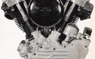 Мотоцикл FL 1200 Type 74 Knucklehead (1946): технические характеристики, фото, видео