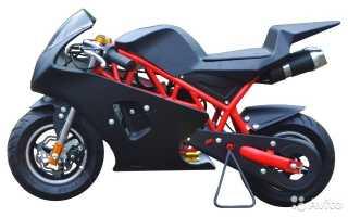 Мотоцикл QR50 MiniMoto (1984): технические характеристики, фото, видео