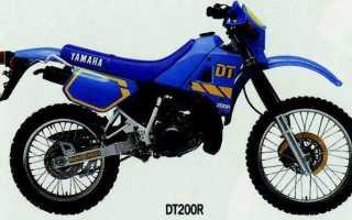 Мотоцикл DT200R (1990): технические характеристики, фото, видео