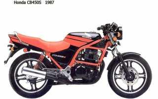 Мотоцикл CB 450 DX 1988: технические характеристики, фото, видео